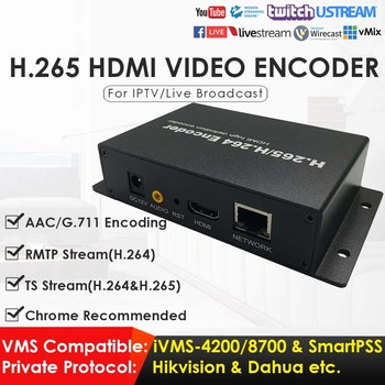 H.265 H.264 HDMI Network Video Encoder FHD 1080P HDMI Video Converter for IPTV Live Streaming Game Streaming to YouTube Facebook best h 265 h 264 1080p hd hdmi encoder for iptv live stream broadcast by rtmp http rtsp vlc for streaming server youtube