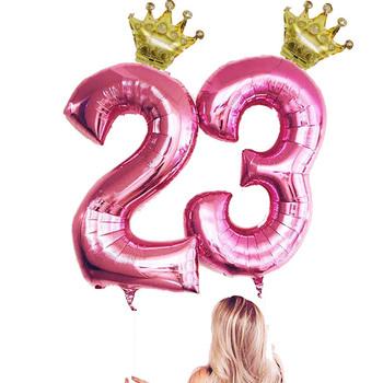 2 sztuk 32 40 cal balony foliowe w kształcie cyfr korona cyfrowy manometr balon dzieci dekoracje na przyjęcie urodzinowe balon tęczowy akcesoria na imprezę tematyczną prezent tanie i dobre opinie CN (pochodzenie) Numer FOLIA ALUMINIOWA Tak ( 50 sztuk) Ślub i Zaręczyny Chrzest chrzciny Wielkie wydarzenie do ujawnienia płci