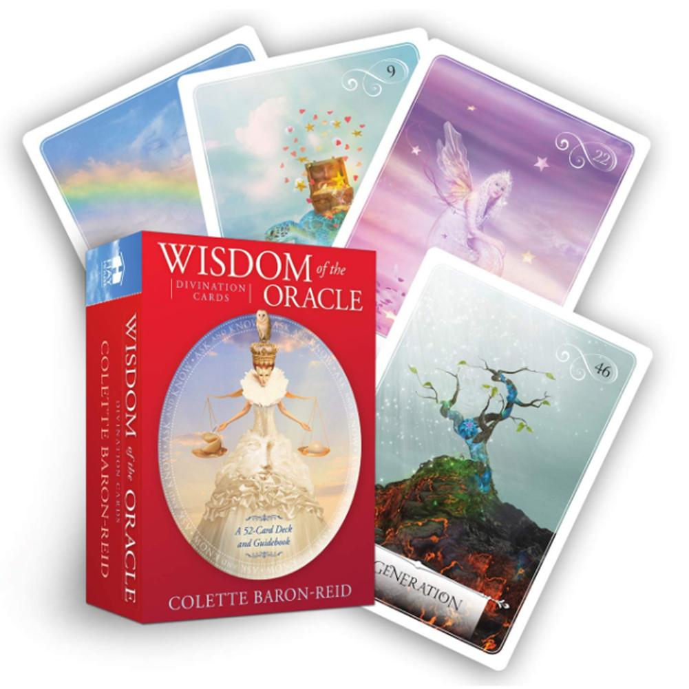 52pcs Wisdom Oracle Cards Tarot Card Game For Party Playing Card Table Deck Board Games Guidance Divination Fate Entertainment