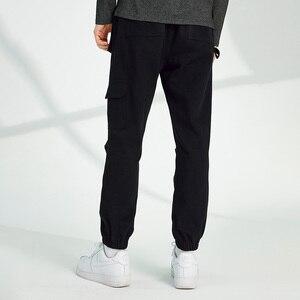Image 4 - Pioneer Camp spodnie na co dzień mężczyźni luźna odzież uliczna 100% bawełna czarny szary Cargo spodnie dla mężczyzn AXX902322