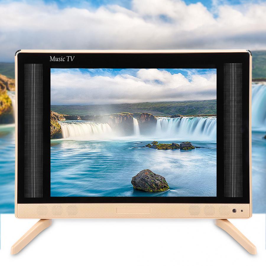Led tv 22 inç yüksek çözünürlüklü LCD tv taşınabilir Mini televizyon bas ses kalitesi ile 110-240V