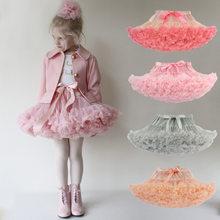 Falda de tutú para niña pequeña, bailarina, esponjosa, faldas de Ballet para fiesta, baile, Princesa, ropa de tul, falda de malla