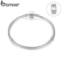 BAMOER Высокое качество Серебряный цвет основные змея цепочка на магните застежка для браслета изготовление бусин и ювелирных изделий PA9010