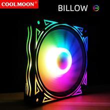 80% Off COOLMOON BILLOW Case Fan Mute Anti-scratch 12cm Bearing RGB Luminous Cooling Fan for Computers