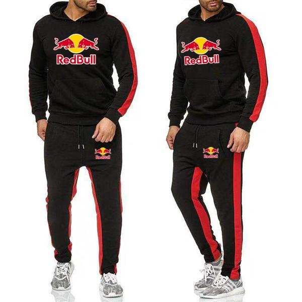Casual Sportswear Suit 2019 Men's Fashion Jogging Sportswear Suit Spring And Autumn Two Hoodies Pants Suit Men's Sportswear