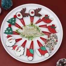 Рождественский Набор шпилек Детские аксессуары для волос заколки