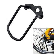 Części rowerowe łańcuch ochraniacz na przerzutki tylna przerzutka tylna osłona rowerowa do roweru szosowego i górskiego MTB przekładnia stalowa żelazna osłona tanie tanio CN (pochodzenie) YQ130 Guard Rack Protector sliver black as the picture show