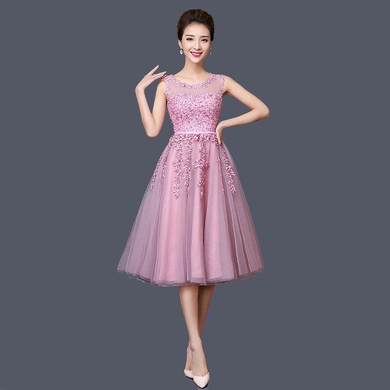 Women Host Dress Skirt  Medium Long Pink Evening Dress Banquet Graduation Gown  Chinese Style Dress Improved Qipao Size S-3XL