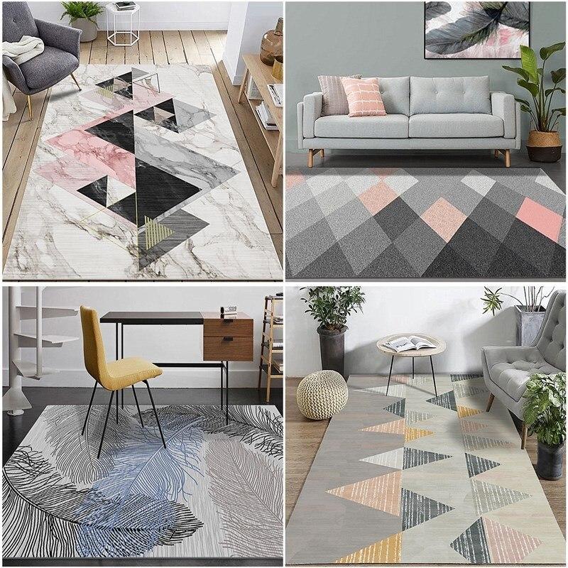 Tapis délicats pour les tapis de chambre à coucher de salon/Style nordique tapis de maison de polypropylène l'épaisseur douce sont tapis tapis de porte de plancher de tapis
