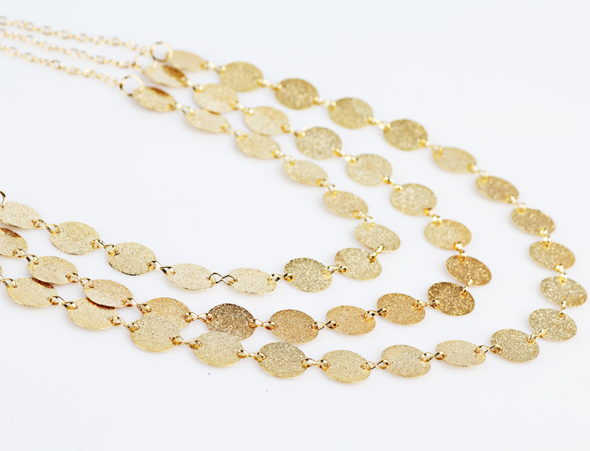 New fashion trendy jewelry choker multi layer gold silver color Wafer necklace gift for women Boho Layering Chokers girl bijoux in Choker Necklaces from Jewelry Accessories
