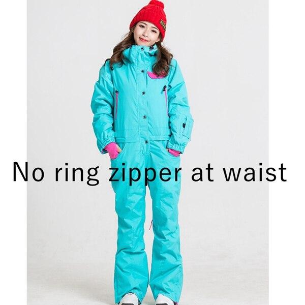 Синий волшебный зимний сноуборд kombez лыжная куртка и брюки лыжные костюмы женский комбинезон женский сноуборд водонепроницаемый комбинезон Россия - Цвет: NO ZIP AT WAIST