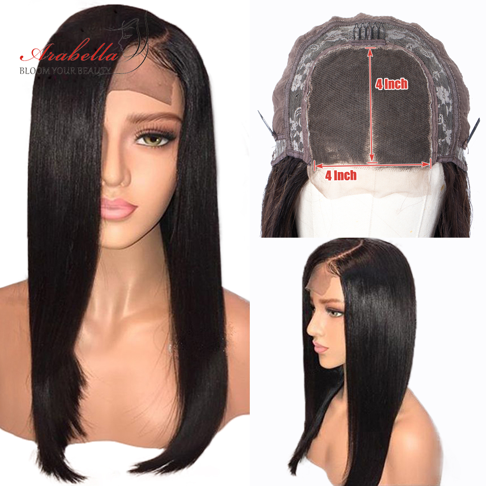 Arabella Straight 6X6 Lace Closure Wig Human Hair Wigs Pre Plcuked Peruvian 4X4 Lace Wig For Black Women 150% Density Remy Wigs