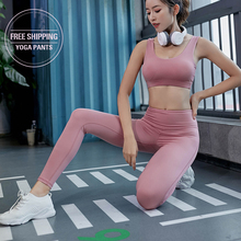 Yoga Fitness Pants Leggings Super Soft Hip Up  Women Stretchy Sport Tights Anti-sweat High Waist Gym Athletic