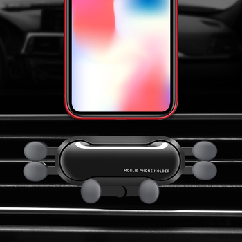 Car Gravity Mobile Phone Holder Car Creative One Air Outlet Anti-shake Mobile Phone Holder For IPhone 8 X XS Max Samsung Xiaomi image