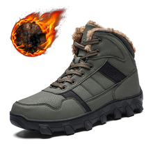 купить Size 39-46 Men Warm Winter Hiking Shoes Hiking Boots Tactical Boots Outdoor Mountain Climbing Sports Sneakers Boots for Hunting по цене 2327.79 рублей