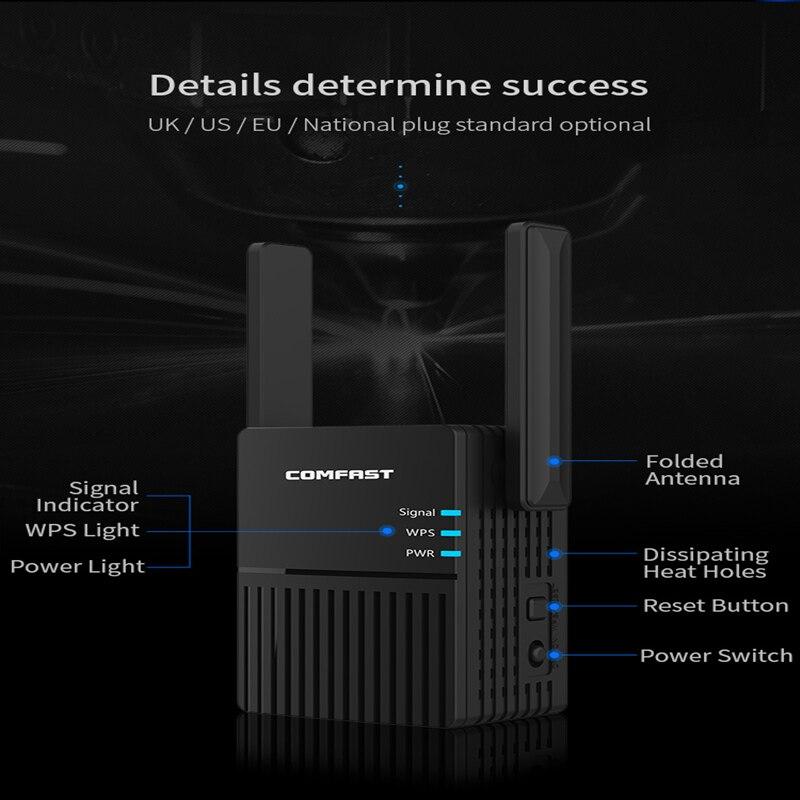 WiFi repeater WiFi extender 2,4G 5G WiFi drahtlose verstärker Router WiFi 5ghz lange-range signal repeater wi-Fi 1200Mpbs