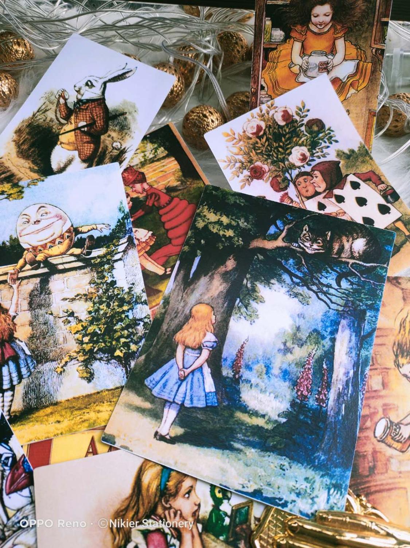 Винтажные милые наклейки с рисунком Алисы для рукоделия