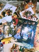 Vintage adorável alice desenhos animados personagens adesivo diy ablum diário scrapbooking decorativo papelaria adesivos planejador junkjournal