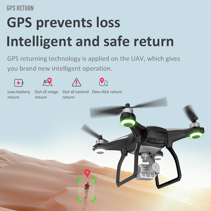 LAUMOX X35 Drone GPS WiFi 4K HD Camera Professional RC Quadcopter Brushless Motor Drones Gimbal Stabilizer 26 minute flight 4