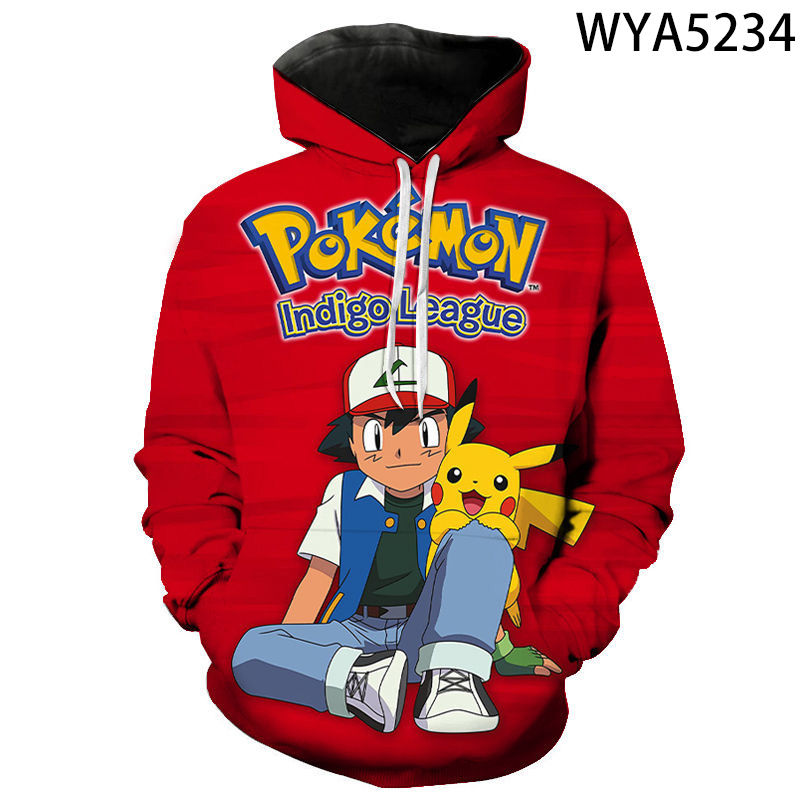 Fall New Style Hoodies Men And Women Children Pokemon Sweatshirt 3d Printing Cartoon Anime Pullover Fashion Coat 2