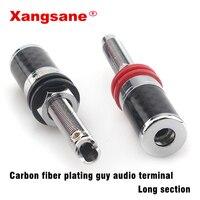 4pcs xangsane carbon fiber plating guy audio terminal speaker wire terminal Long section