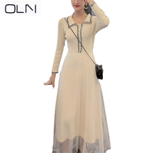 Lace dress OLN Autumn Winter Korean vestidos new a