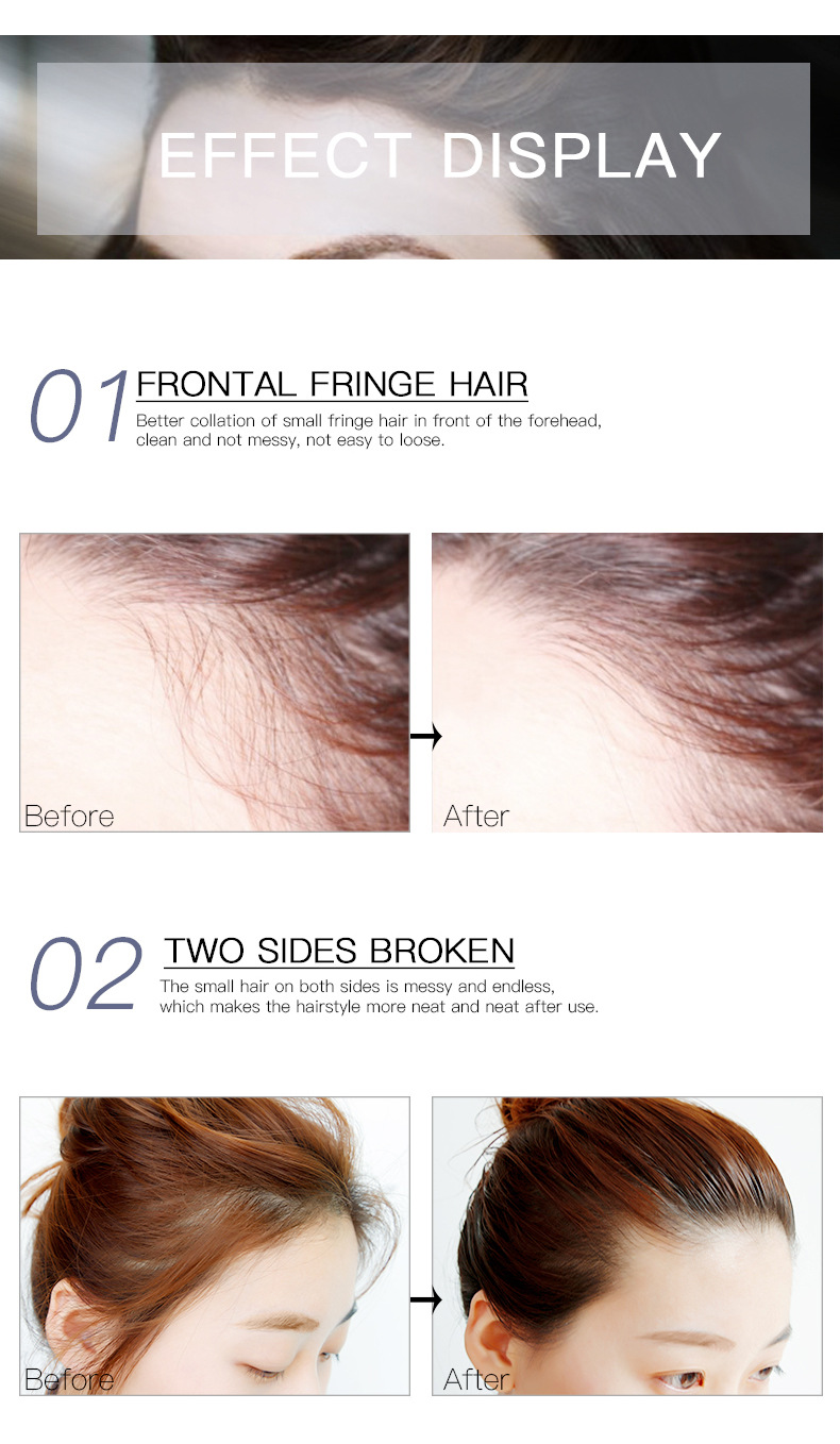 Untidy Hair Finishing Liquid Cream Rapid fixed edge Hair Gel Not Greasy Small Broken Hair long-lasting styling hair stick TSLM1 -