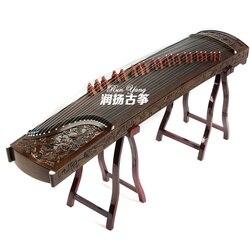 Yüksek kaliteli profesyonel Guzheng usta el yapımı Phoebe 9 ejderha katı ahşap oyun Guzheng çin 21 dizeleri