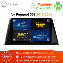 Ownice Octa 8 Core Android 9.0 Auto Radio GPS Navigation k3 k5 k6 für Peugeot 308 2016 DVD Player 4G LTE DSP 360 panorama Optische(China)