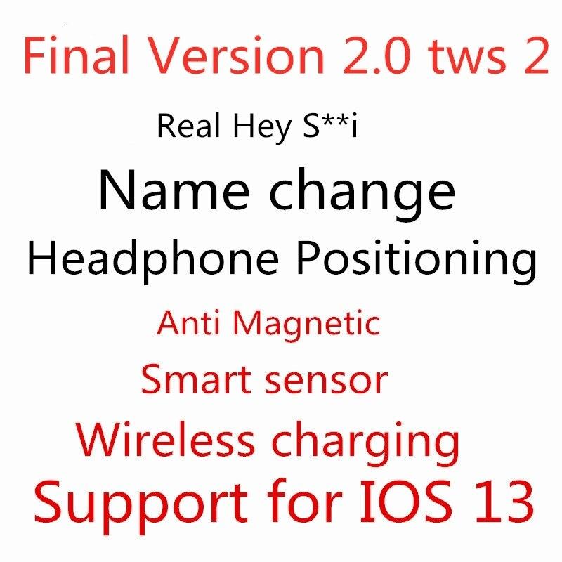 Final Version 2.0 Tws 2 Real S I+Positioning +Name Change Smart Sensor Wireless Charging