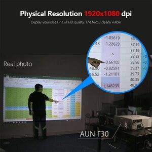 Image 3 - AUN светодиодный проектор F30/UP, разрешение 1920x1080P. Обновление 6500 люмен, Full HD проектор для домашнего кинотеатра, HDMI 3D проектор, P