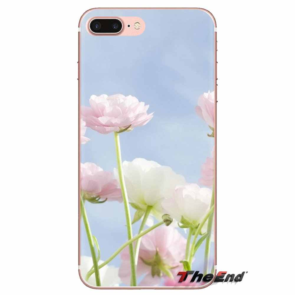 Tpu Transparent Cases Cover Pink Flower Blue Sky Hd Wallpaper For Samsung Galaxy A3 A5 A7 A9 A8 Star A6 Plus 2018 2015 2016 2017 Fitted Cases Aliexpress