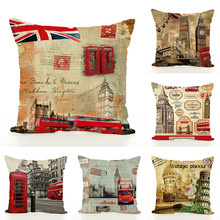 Flax Pillow European Cushion Embrace Case Sofa Decorative Pillows