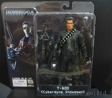 Terminator 2 T-800 Cyberdyne Showdown 7 Arnold PVC  Action Figure Model Mint Collection Anime Figure Toys Statue in Box 7'' neca the terminator 2 action figure t 800 endoskeleton classic figure toy 7 18cm
