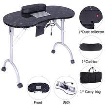 Tavolo da Manicure portatile Spa attrezzature per saloni di bellezza scrivania pieghevole per unghie con collettore di polveri e cuscino e ventilatore