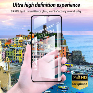 Image 5 - טלפון זכוכית עבור Iphone 11 פרו מקסימום 2019 מסך מזג זכוכית מלא כיסוי קצה זכוכית עבור Iphone 11pro Xi Iphone11 מגן זכוכית