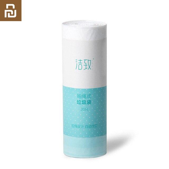 Youpin JieZhi שרוך אשפה שקית אשפה תיק לעבות חומר למנוע דליפה ביתי פלסטיק אשפה תיק 20pcs /1 רול