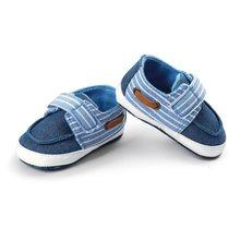 Детская обувь для кроватки Повседневная джинсовая синяя мальчиков