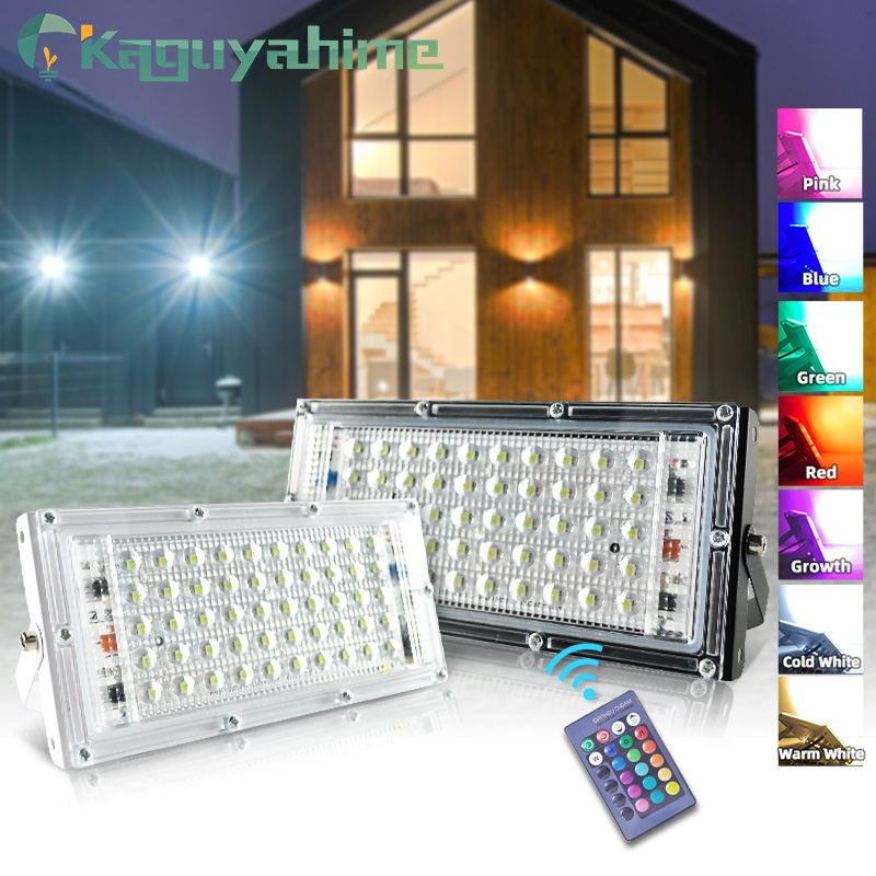 Kaguyahime LED Flood Light 50W LED Floodlight 220V 240V Reflector Lighting IP65 Waterproof Street Lamp Square Garden Spotlight