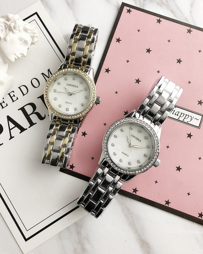CONTENA  New  Luxury Women's Quartz Wristwatch Relogios Reloj Mujer Watches