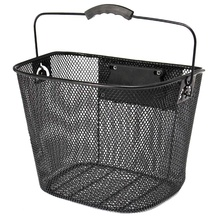 Metal Mesh Basket For Mtb Mountain Bike Cycling Bicycle Front Foldable Riding Rear Pannier Quick Release Shopping Handle