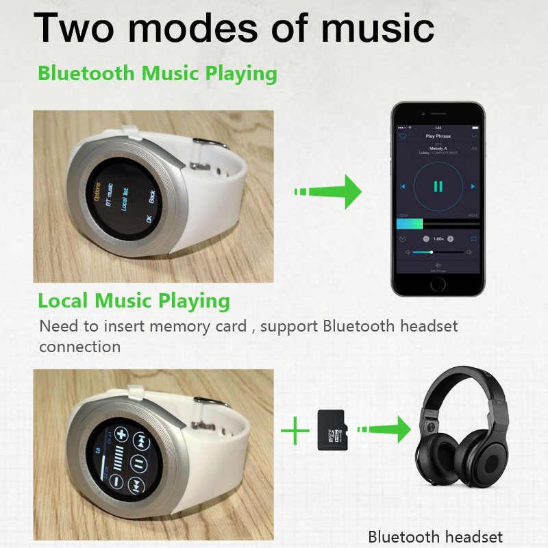 Smart Watch Pria Android dengan Layar Sentuh Y1 SIM Kartu Smartwatch Jam dengan WhatsApp Facebook Kebugaran Tracker PK V8