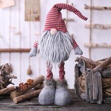 20# Санта-Клаус, снеговик, эльф, рождественские украшения, безликая кукла, плюшевая кукла, вечерние украшения для дома, год