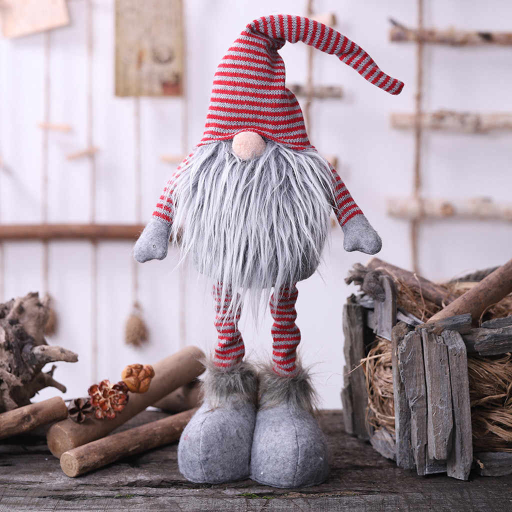 20#Santa Claus Snowman Elf Christmas Ornaments Faceless Doll 2019 Plush Doll Favor Party Decoration for Home New Year