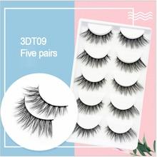 3D five pairs of fake eyelashes multi-layer fashion natural soft and realistic eyelash makeup tools
