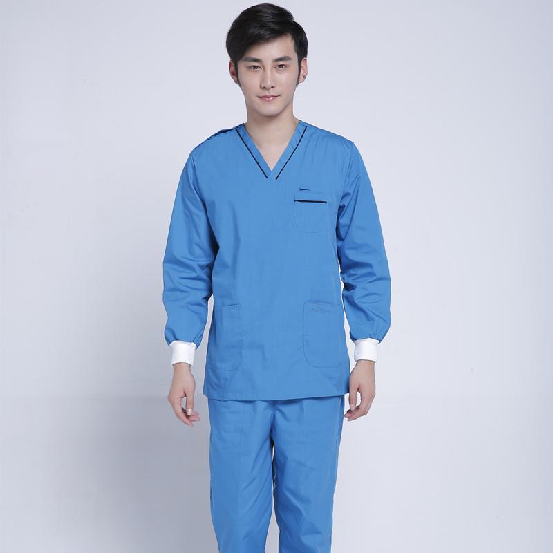 New Medical Uniforms Women Long Sleeve Surgical Gown Hospital Nurse Uniform Scrubs Mens Doctor Clothing Beauty Salon Workwear