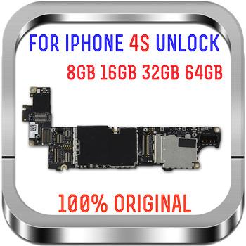 8GB 16GB 32GB 64GB dla iphone 4S płyta główna z pełnym odblokowaniem nie ma aplikacji iCloud dla iphone 4S płyta Logic z systemem IOS dobrze przetestowane tanie i dobre opinie TDHHX for iphone 4s motherboard Wewnętrzny Apple iphone In Stock Original Disassemble Unlocked and used