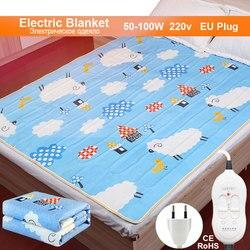 Электрическое одеяло, 220 В, толстое плюшевое электрическое нагревательное одеяло, термостат, одеяло, двойное тело, электрическое одеяло, под...