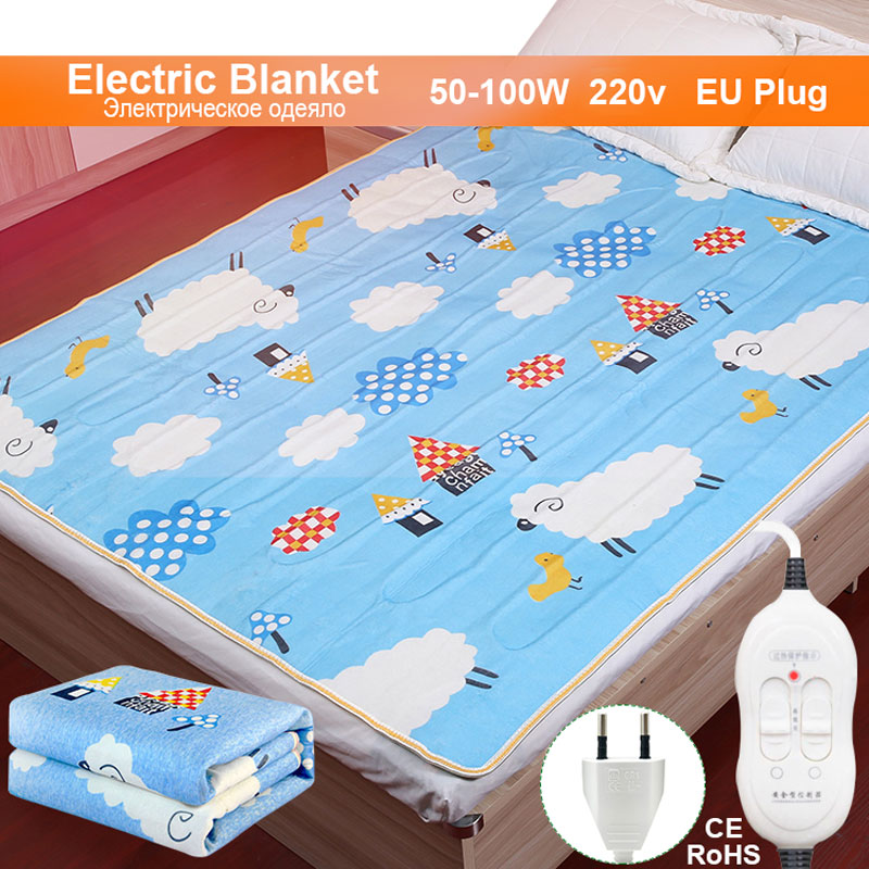 Electric Blanket 220v Thicker Plush Electric Heating Blanket Thermostat Throw Blanket Double Body electric blanket heater Warmer title=