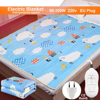 Electric Blanket 220v Thicker Plush Electric Heating Blanket Thermostat Throw Blanket Double Body electric blanket heater Warmer